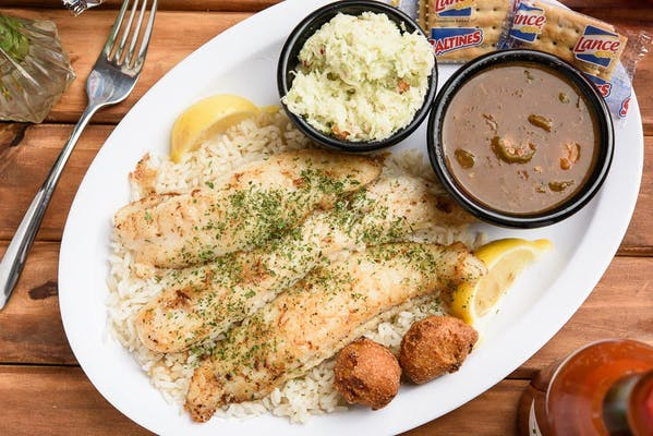 Grilled Fish Dinner