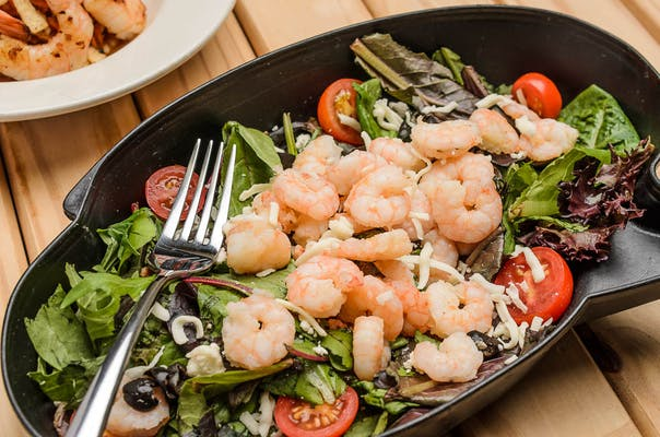 Boiled Popcorn Shrimp Salad