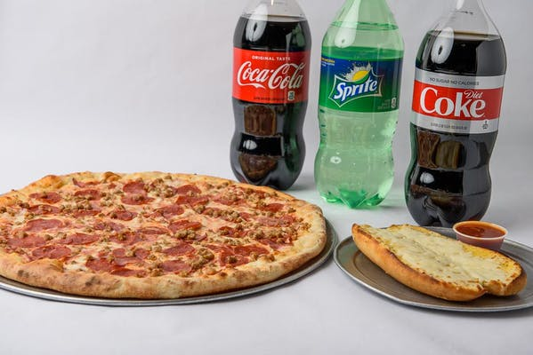 Extra Large All Meat Pizza Coca-Cola Combo