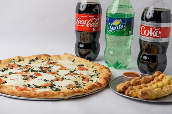 Extra Large Spinach & Tomato White Pizza Coca-Cola Combo