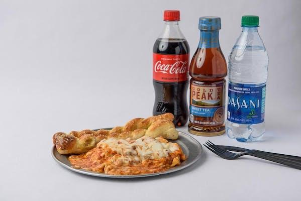 Meat Lasagna Coca-Cola Combo