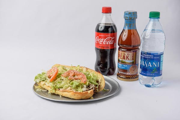 Chicken Steak a la Garden Sandwich Coca-Cola Combo