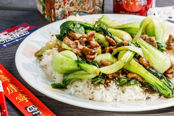 Stir-Fry Bok Choy & Rice