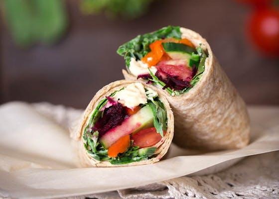 Kale Vegetarian Wrap