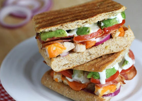 Turkey Bacon Avocado Panini