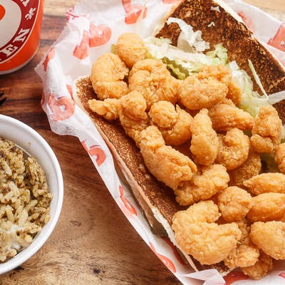 #10 Fried Shrimp Po'Boy