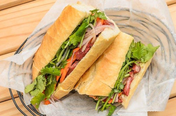 Vietnamese Pâté Ham Sandwich