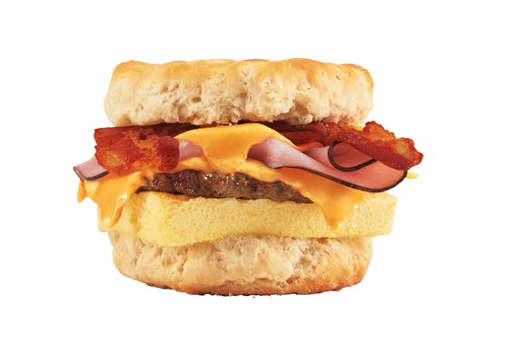 Bacon, Sausage, Egg & Cheese Biscuit