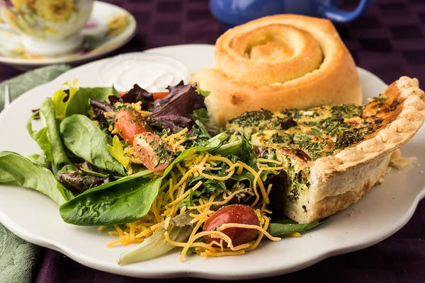 Slice of Garden Quiche & Orange Roll