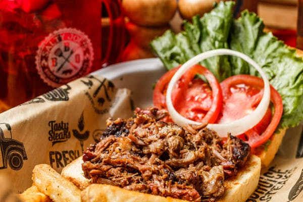 Chopped Brisket Sandwich