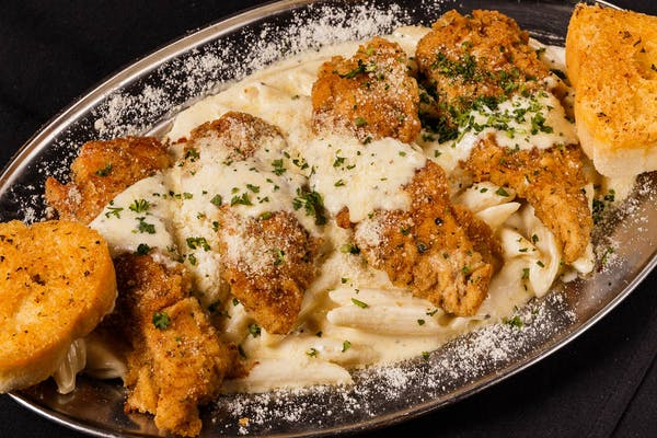 Grilled or Panéed Chicken Alfredo