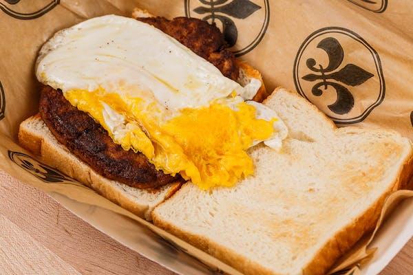 Egg & Sausage Sandwich on Toast