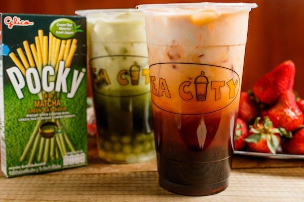 M23. Thai Tea with Tapioca