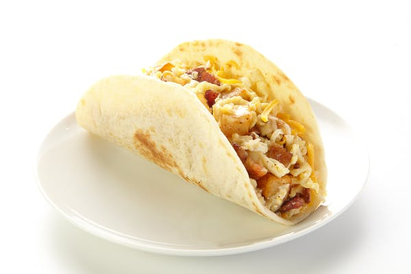 Chorizo, Potato, Egg & Cheese Taco