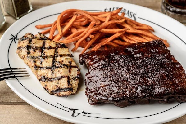 BBQ Baby Back Ribs & Grilled Chicken