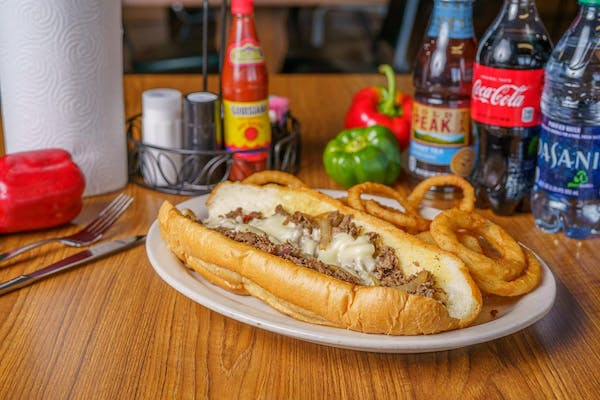 Fried Philly Cheesesteak Sandwich Coca-Cola Combo