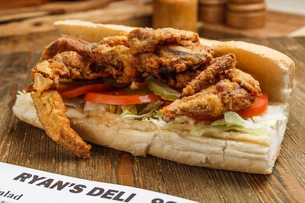 "(8"") Fried Softshell Crab Po Boy"