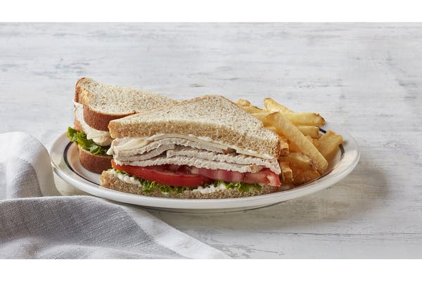 55+ Turkey & Swiss Sandwich