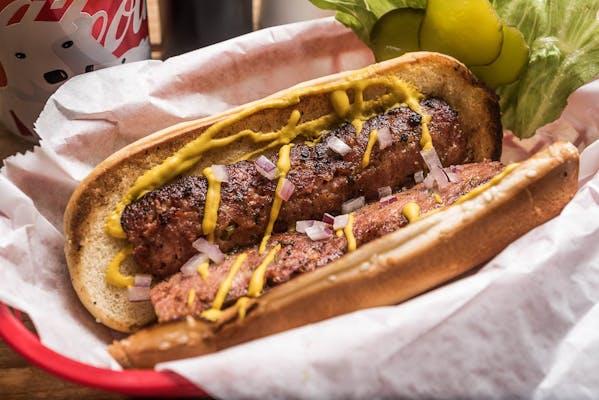 Begnaud's Smoked Sausage on a Bun