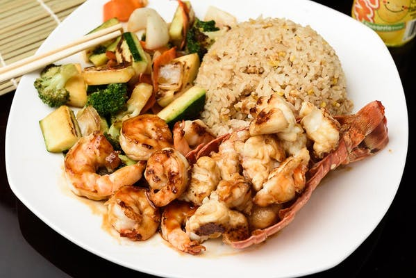 H29. Lobster & Shrimp Hibachi Dinner