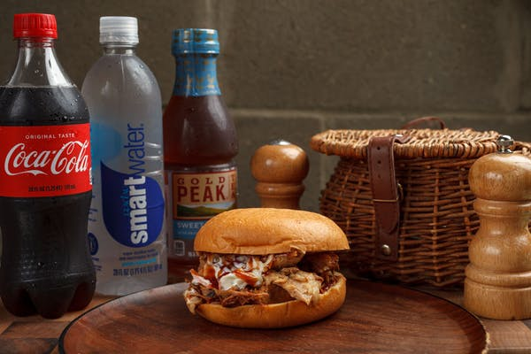 Smoked Pulled Pork Sandwich Coca-Cola Combo
