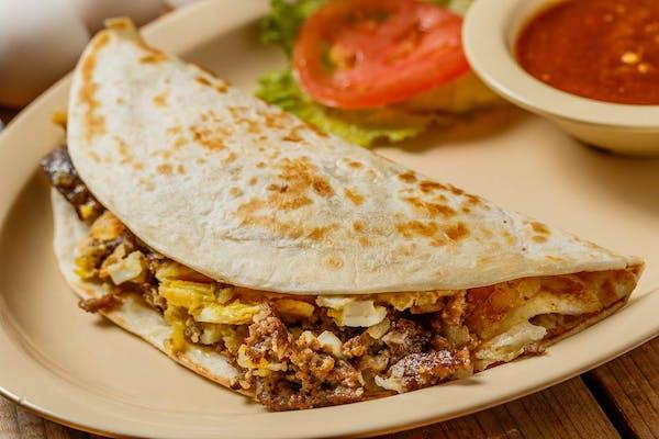 Meat Lover's Breakfast Taco