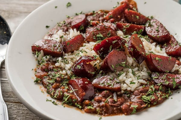 Red Beans & Rice with Sautéed Sausage