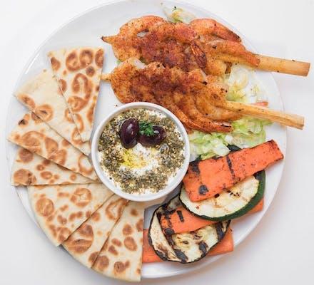 Shrimp Kabob Platter