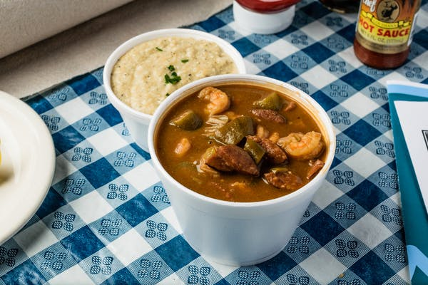 Gumbo Bowl & Cheese Grits