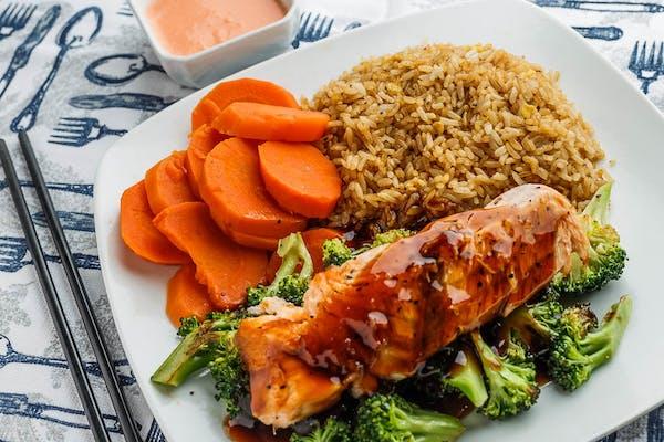 Salmon Hibachi Lunch