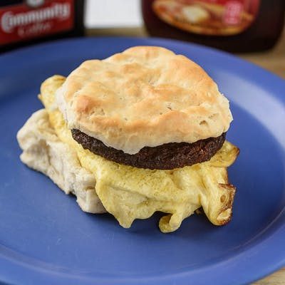 Meat, Egg & Biscuit w/ cheese