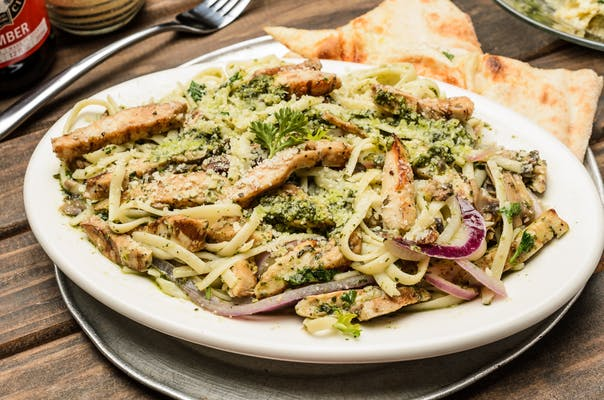 Pesto Chicken Linguine