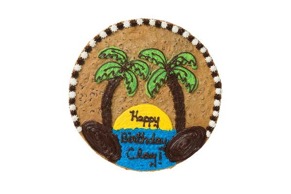 "(16"") Island Design Cookie Cake"