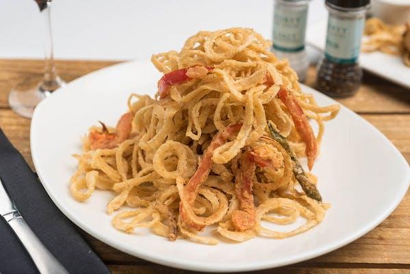 Lunch Crispy Onion Strings & Jalapeños