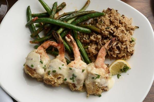Lunch Seafood-Stuffed Shrimp