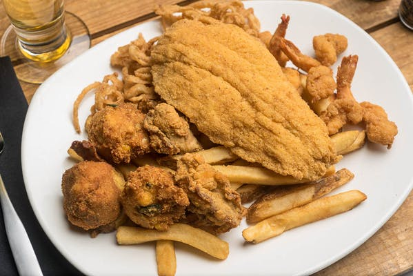 Lunch Fried Seafood Platter