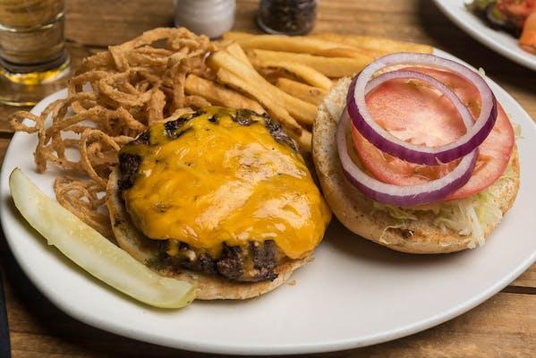Lunch Landry's Gold Burger