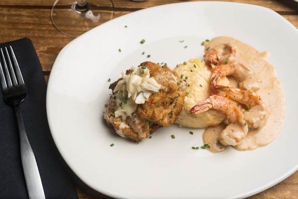 Lunch Blue Crab Cake & BBQ Shrimp