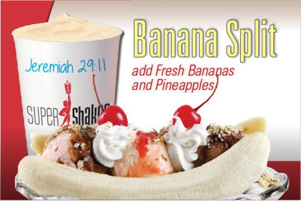 Super Fuel Banana Split Shake