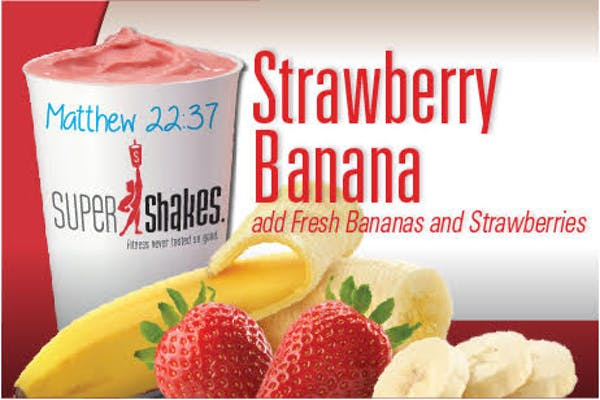 Super Charge Strawberry Banana Shake