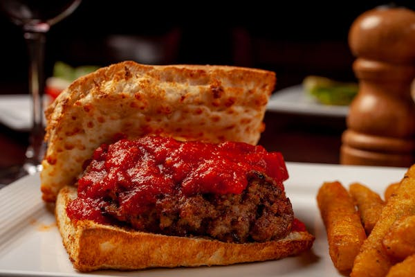 Stuffed Meatball Sandwich