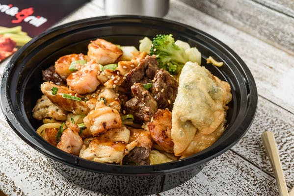 Chicken & Steak Combo Bowl