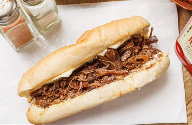 Slow-Cooked Shredded Beef Poboy