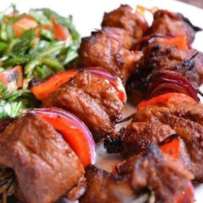 17. Beef Shish Kebab