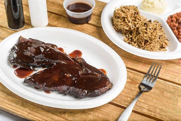 BBQ Pork Steak Dinner