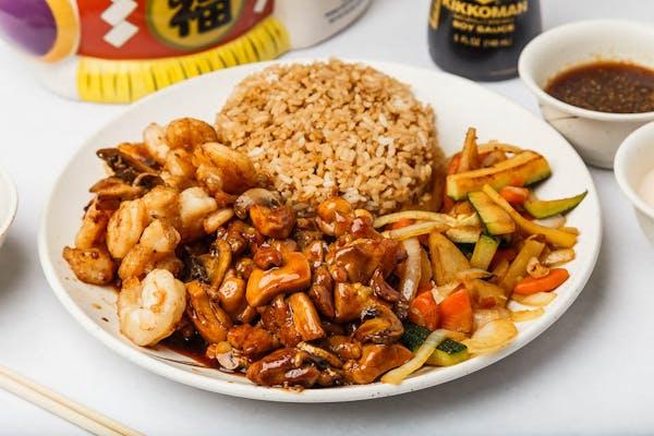 Shrimp & Teriyaki Chicken