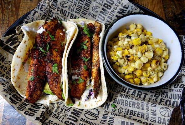 Blackened Redfish Tacos