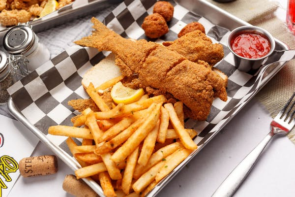 Dressed Catfish Platter