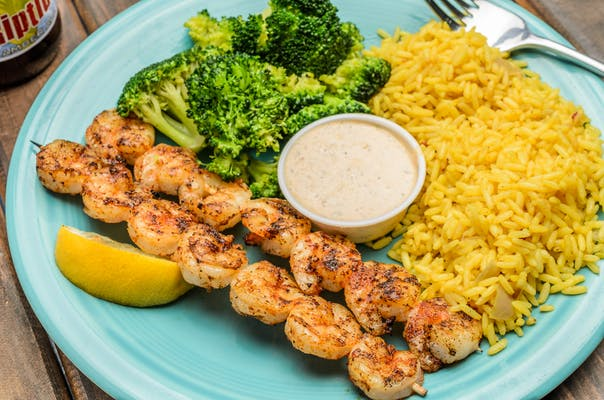 Shrimp Skewer Dinner