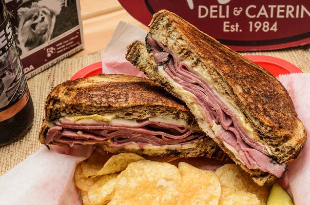 Hot Pastrami & Swiss Sandwich